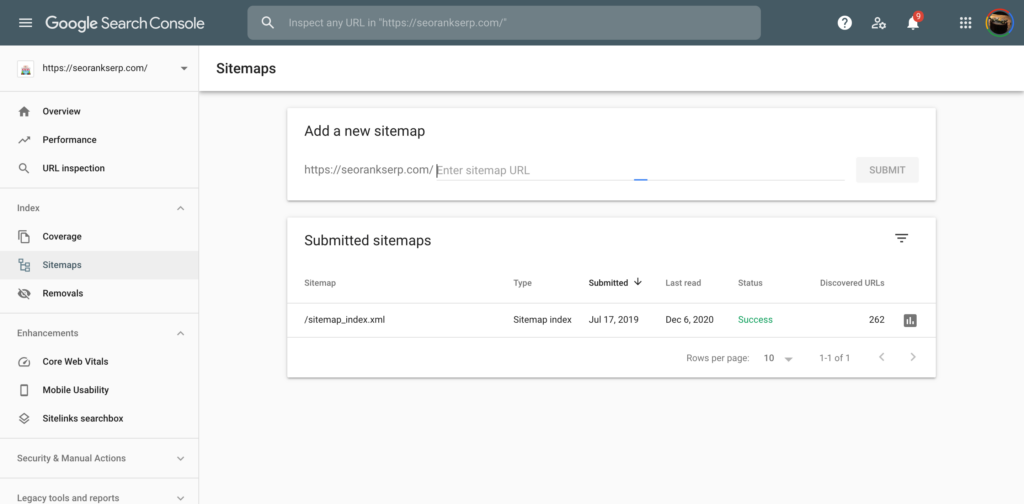 Create an XML Sitemap with WordPress & add it to Google Search Console  10