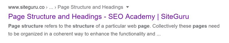 google serp snippet meta description