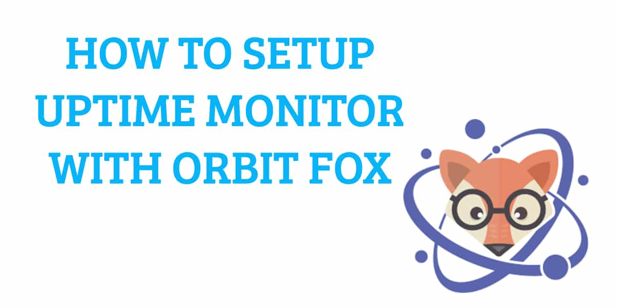 HOW TO SETUP UPTIME MONITOR WITH ORBIT FOX